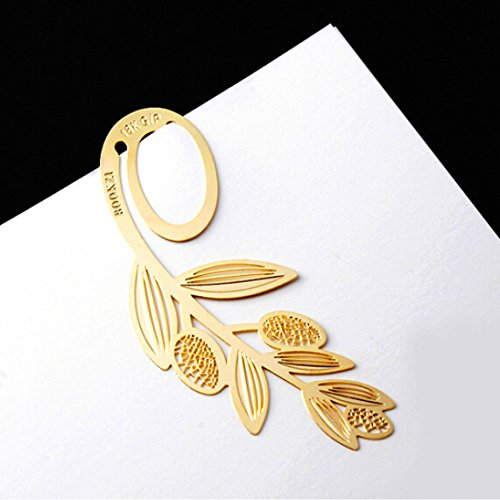PETMALL Gold Bookmark Creative Metal Bookmarks for books Marker Wedding Favors and Gifts OFFICE-279