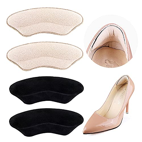 Premium Heel Pads for Shoes Too Big, Self-Adhesive Heel Inserts for Women&Men, Heel Grips to Improve Shoe Fit and Comfort, Heel Protectors to Prevent Pain Blisters Calluses (2 Pairs)