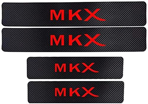 4 PCS Car Fibra De Carbon Estribos Coche Tiras Umbral, para Lincoln MKX Protector AntiarañAzos Styling Decorativos Accesorios