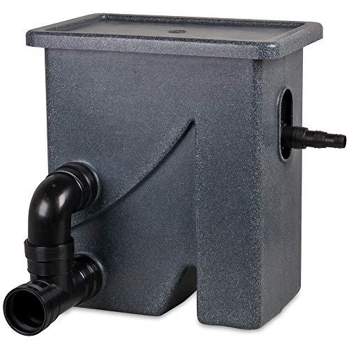 Wagner GREEN Siebbogenfilter Compactsieve II 2 schwarz, Vorfilter mit Spaltsieb für Koiteich und Gartenteich