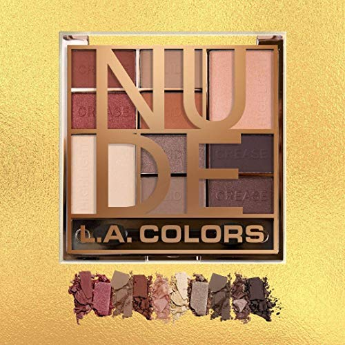 L.A Colors 10 Color Eyeshadow Palette, Nude, 20g