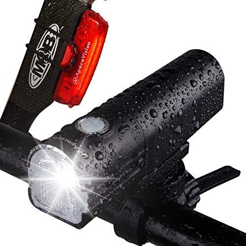 Kit Luz Bicicleta Delantera GlareFX Pro800 Recargable USB - Potente Combinación de...