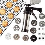 Prensas de galletas, de acero inoxidable de grado alimenticio, 9,8 x 5,8 cm, para hacer galletas y tartas, herramienta de decoración de tartas, 13 puntas y 8 boquillas incluidas