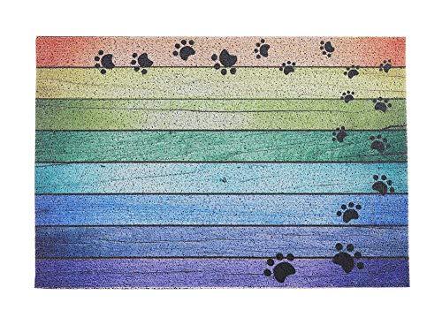 Darkyazi 23.6 x 35.4 Colorful Doormats Entrance Front Door Rug Funny Outdoors/Indoor/Bathroom/Kitchen/Bedroom/Entryway Floor Mats,Non-Slip Rubber (Dog paw Print)