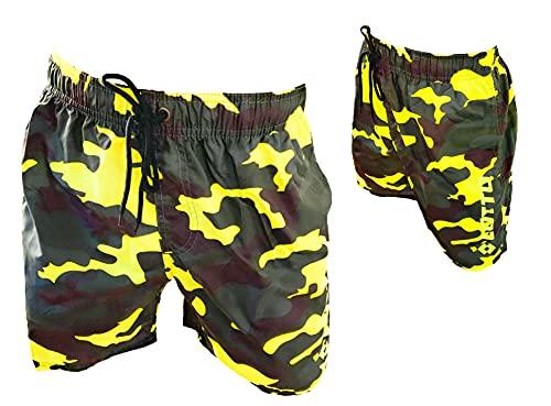 Lotto Costume Uomo Boxer Mare Pantaloncini da Bagno (48346 Giallo Fluo, L, l)