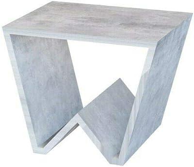 Tavolino da Salotto Con Portariviste Sala Pranzo Ingresso Soggiorno Studio Tavolo Basso in Legno, Comodino Design Elegante e Moderno, Juliaca 50 x 40 x 33 cm (Grigio Cemento)