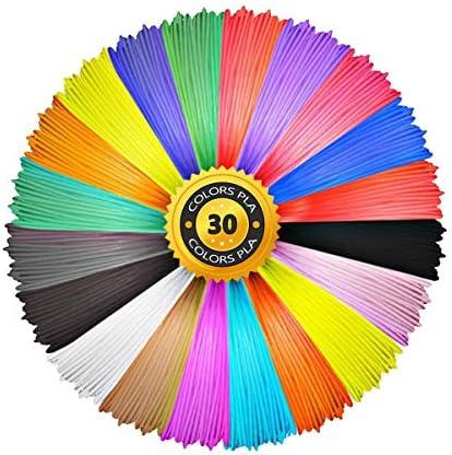 3D Pen PLA Filament Refills 1 75mm Aishtec PLA Filament 1 75mm 30 Colors 10 Feet Each Color product image