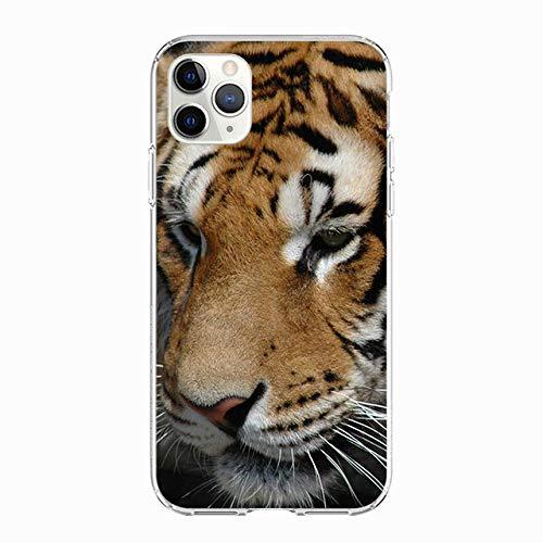 WQDWF Funda de teléfono Animal Cat Dog para iPhone 11 Pro X XS MAX Funda de TPU Suave Coque para iPhone XR 7 8 6S 6 Plus 5S SE 2020 Funda, WM00615, para 7plus 8plus