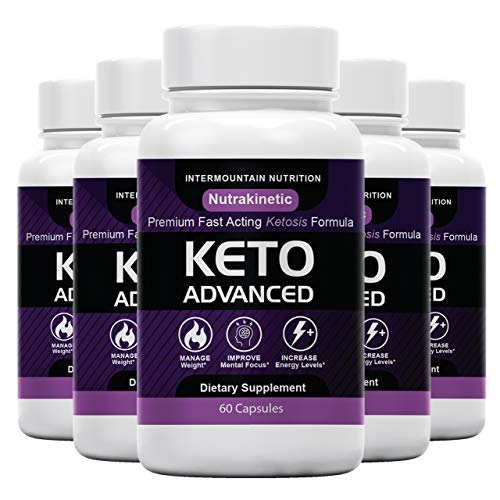 (5-Pack) NutraKinetic Keto, Nutra Kinetic Keto Pill, Keto Advanced, Go BHB...