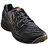 Wilson Kaos 2.0 Clay Court, Zapatillas de Tenis Hombre, Negro (Ebony/Black/Shocking Orange 000), 46 2/3 EU
