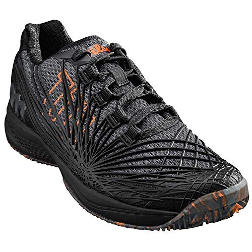WILSON KAOS 2.0 Clay Court, Chaussures de Tennis Homme, Noir (Ebony/Black/Shocking Orange 000), 44 EU