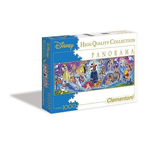 Clementoni- Disney Family Panora Puzzle, 1000 Pezzi, Multicolore, 30784
