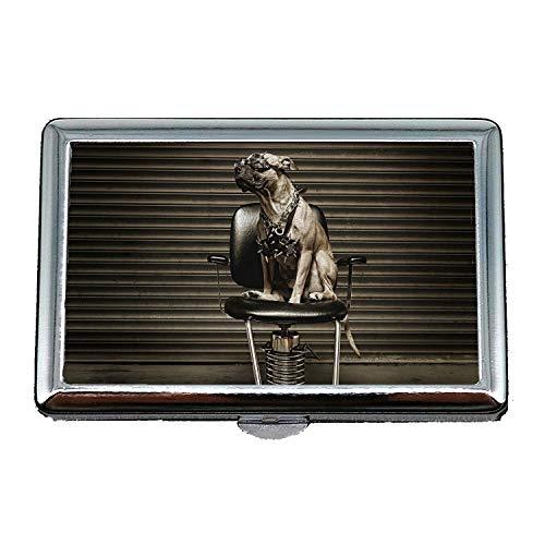 Zigarettenetui, Tier Hund Katze Pitbull Hund, Business Name Kartenhalter