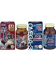 【セット買い】オリヒロ 牡蠣エキス粒 120粒 & フィッシュオイル