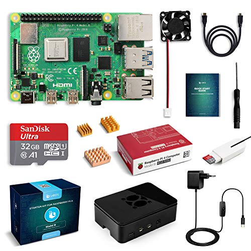LABISTS Raspberry Pi 4 Model B Kit de 4 GB con SD de 32GB...