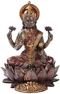 Lakshmi on Lotus Hinduism Display Statue