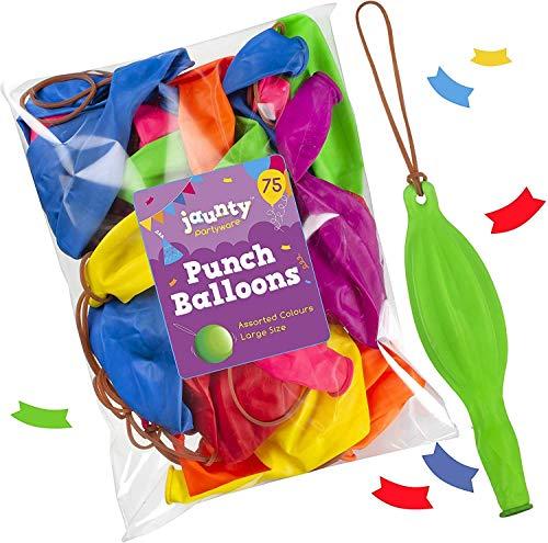 jaunty partyware Perforierte Luftballons in Premium-Qualität mit E-Book für Partysackfüllungen Packung mit 75 (Large 12
