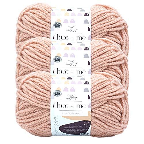 (3 Pack) Lion Brand Yarn 617-101 Hue & Me Yarn, Rose Water
