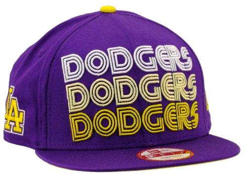 New era Los Angeles Dodgers Snapback Tri Frontal Deep Purple/Cyber Yellow/White - S-M