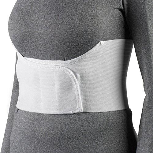 OTC Elastic Chest Panel Universally Adjustable Rib Belt for Women, White, Regular