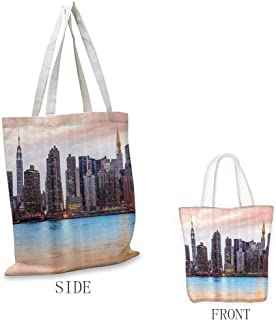 Tote Shopping Bag, Large, Durable, Collapsible Tote - for Crafts, Shopping, Groceries, Books, Welcome Bag, Diaper Bag, Beach, and Much More, New York - Stylish Printed - 11