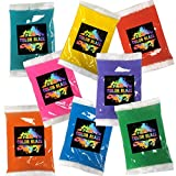 Color Blaze Holi Color Powder Individual Color Powder Packets - Perfect for Small Events, Birthday Parties, and Holi Festivals, Summer Camp, Color Toss - Set of 8