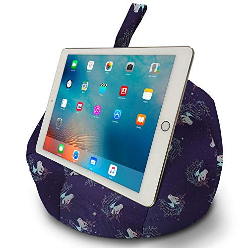 COSY HOLDER - Pumpkin Beanbag Cushion - Tablet & E-Reader (E-Book) holder/stand. Ideal for iPad, Samsung Galaxy, Kindle & Books. Holds your device at ANY viewing angle. Perfect for home or travel