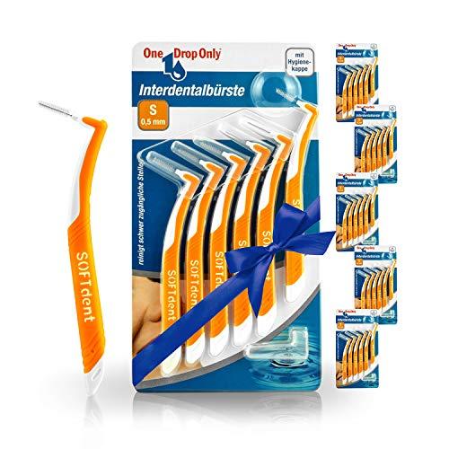 One Drop Only Interdentalbürsten, Bürsten in Größe S / 0,5mm für die gründliche Reinigung der Zahnzwischenräume, 5+1 6er-Sets