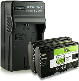 4en1 Cargador + 2 Batería LP-E6 para Canon EOS 7D 6D 5D Mark II Mark III 60D 70D 80D y mucho mas