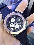 Llzka Herren Chrono Watch, Chronograph, Saphir, Edelstahl, Roségold, Schwarz, Gummi, Luminous Sports Watch 2