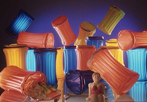 Artra Blow Up Grote opbergbox en bak, neonkleuren, koeltas, partykoeler, partykoeler, zomer, strand, dranken, opwaartse box transparant