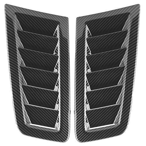 Akozon Kit de Pala de ventilación para capó de Coche Rejillas de Entrada de Flujo de Aire Capuchas de ventilación Cubierta del capó para Focus RS MK2 Style(Fibra de Carbon)