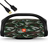 JBL Boombox - Waterproof Portable Bluetooth Speaker - Family Holiday & Home Party - IPX7 Water-Resistant, 20,000 mAh Battery up to 24 Hours of Nonstop Playback - BROAGE USB Extension Cord - Squad Camo