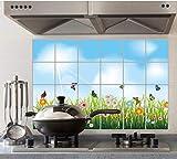 Anti-Rauch-Aufkleber-Wand-Aufkleber-wasserdichter Fliesen-Aufkleber-selbstklebender Kocher-Tisch 60 * 90cm