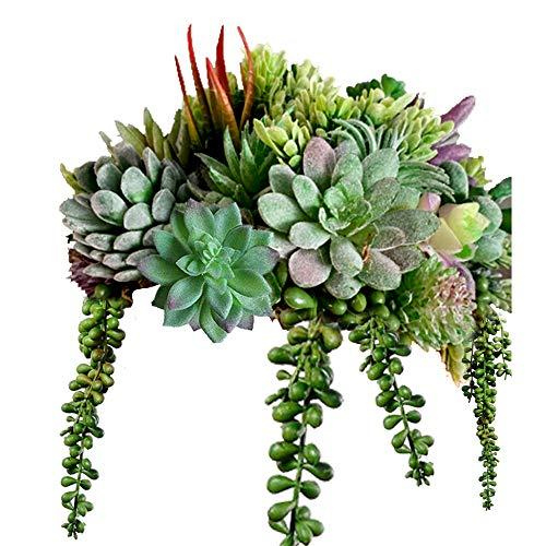 16 Pack Artificial Succulent Create Realistic Succulent Flocking Plants Unpotted Fake Succulents...