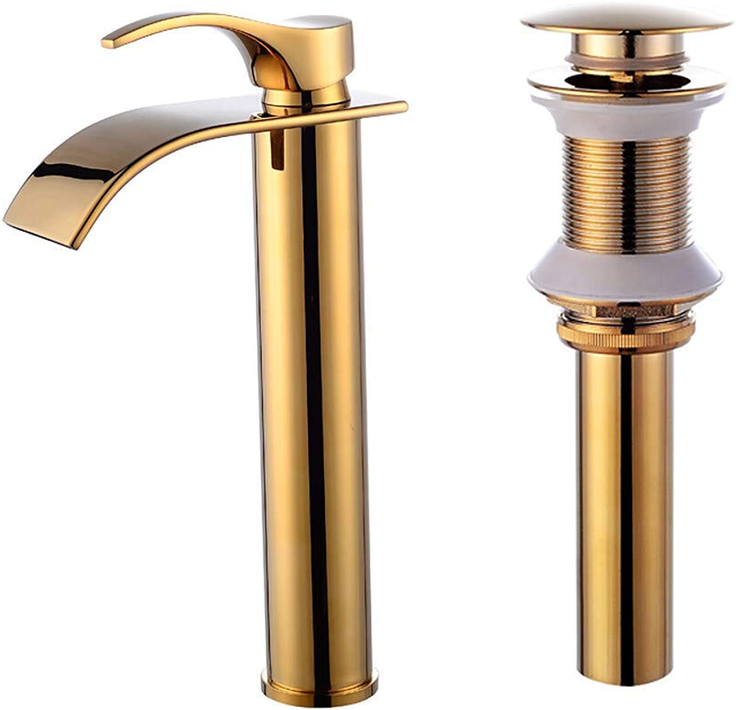 Faucet Set - Waterfall gold Centerset Single Handle One Hole
