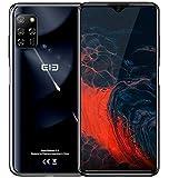 cellulare offerta【2020】 elephone e10, android 10 4g smartphone, cinque fotocamere 48mp + 13mp, schermo waterdrop da 6,5 '', octa core 4gb+64gb, batteria 4000mah, dual sim + sd (3 slot), nfc nero