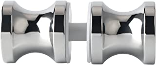 Alise L7000 Shower Glass Door Knob Bathroom Round Back-to-Back Handle Pull,Solid SUS304 Stainless Steel Polished Chrome