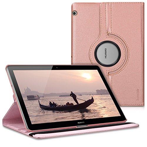 kwmobile Hülle kompatibel mit Huawei MediaPad T3 10-360° Tablet Schutzhülle Cover Hülle Rosegold