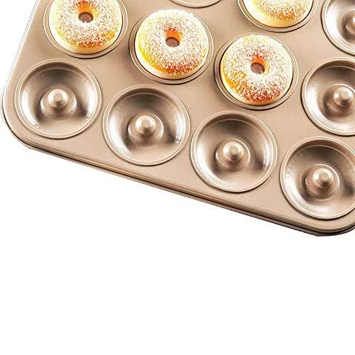 N\C DMKD Herramientas de Cocina para Hornear en casa, Pastel de Galletas, Pan, Donut de Chocolate, Creativo, no es fácil de Quitar, Acero al Carbono Dorado (37,5 x 27,5 x 2,5 cm) xin DMKD
