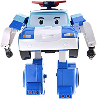 Blue Robocar Poli Roy Amber Helly Transformer Robot Figures Academy toy with Box