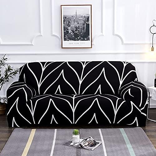 MKQB Funda de sofá de celosía geométrica, Funda de sofá de combinación de Esquina elástica para Sala de Estar, Funda de sofá elástica n. ° 2 L (190-230cm)