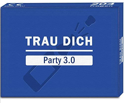 Kulinu TRAU Dich - Party 3.0 - Das Partyspiel mit witzigen und skurrilen Fragen - Das Party Deko Spiel Macht eure Feier einzigartig - Eines der witzigsten Spiele für Erwachsene