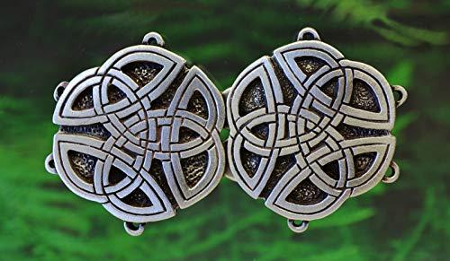 Celtic Cloak Clasp in Fine Pewter | Cape Clasp | Fastener | Closure