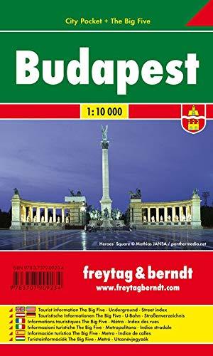 Budapest, City Pocket + The Big Five, Stadtplan 1:10.000 (freytag & berndt Stadtpläne)