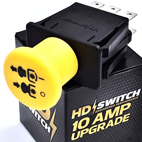 HD Switch 10 AMP Upgrade Blade Clutch PTO Switch Replaces AYP Poulan MTD Craftsman 169416, 169417, 174652, 94927