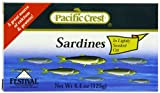 Pacific Crest Sardines in Lightly Smoked Oil - EZ Open, 4.5-Ounce (Pack of 50)