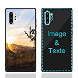 MXCUSTOM Coque Personnalisée Samsung Galaxy Note 10+ 10 Plus, Personnalisable Anti-Rayures Verre...