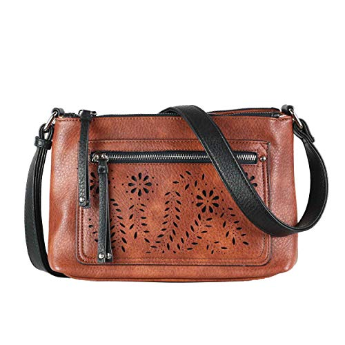 Concealed Carry Purse - Hailey Crossbody by Lady Conceal (Mahogany)
