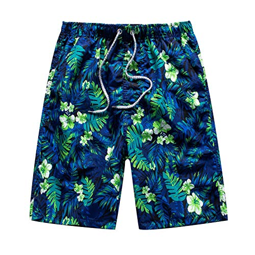 Toimothcn Men's Outdoor Swimming Shorts Five-Point Pants Beach Trunks Loose Quick Dry Pant(3-Green,2X)